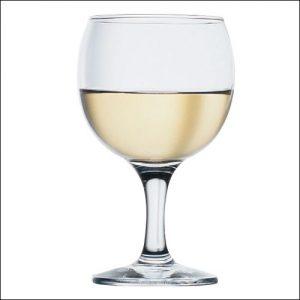 Бокал для вина 175 мл. d=68, h=134 мм бел. Бистро Б /396049/ /12/