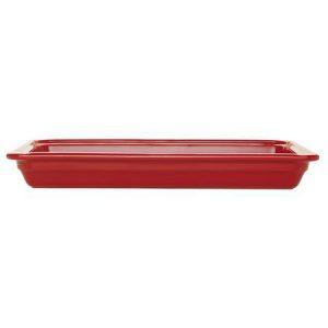 Гастроемкость GN 1/1-65 керамическая, красная