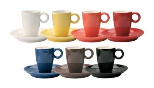 Кофейная пара для эспрессо, фарфор, цветная глазурь