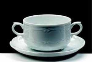 ZIEHER Flora Блюдце 16 см для чашки бульонной (арт. 3945.O), фарфор