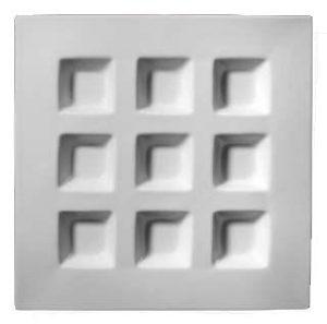 ZIEHER «Vario» Блюдо для сервировки квадратное 30 см, 9 секций, фарфор, цвет белый