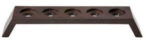 Подставка-мост «Modul», на 5 стаканчиков, дерево, т/коричневый
