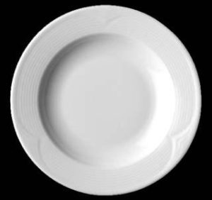Тарелка глубокая 22 см, фарфор