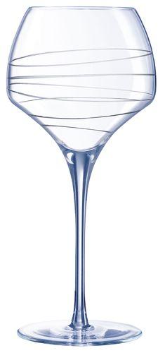 Бокал для вина 550 мл. d=105, h=232 мм с лазер. рисунком Опен ап /4/16/