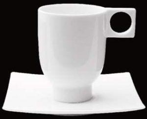 ZIEHER ConFinesse Блюдце квадратное 13,5 см для чашек (арт. 4242.O, 4247.O, 4248.O), фарфор
