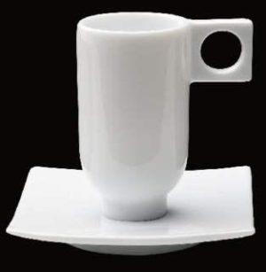 ZIEHER ConFinesse Блюдце квадратное для чашки арт. 4243.O 9,5 см, фарфор