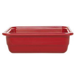 Гастроемкость GN 1/2-100 керамическая, красная