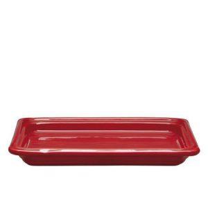 Гастроемкость GN 1/2-40 керамическая, красная
