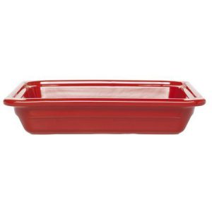 Гастроемкость GN 1/2-65 керамическая, красная