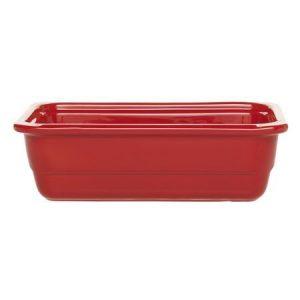 Гастроемкость GN 1/3-100 керамическая, красная