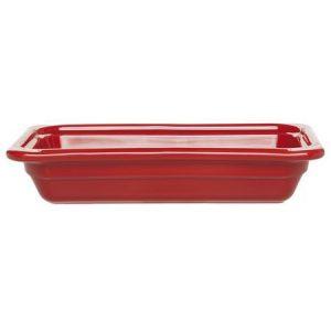 Гастроемкость GN 1/3-65 керамическая, красная