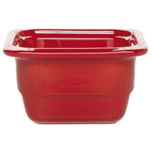 Гастроемкость GN 1/6-100 керамическая, красная