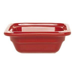 Гастроемкость GN 1/6-65 керамическая, красная