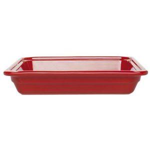 Гастроемкость GN 2/3-65 керамическая, красная