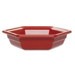 Салатник шестиугольный 26х23 см. 1,2 л. керамич. Красный