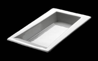 ZIEHER Modul Тарелка глубокая для сервировки прямоугольная 22х11 см, фарфор