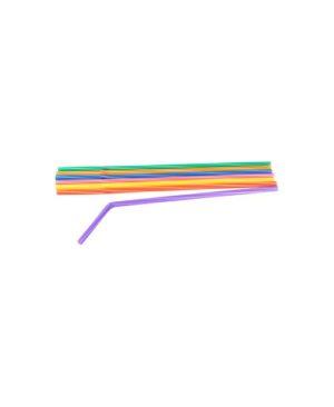 Трубочки кокт.0,5*24 см. 30шт. полосатые с гофрой FM /12/