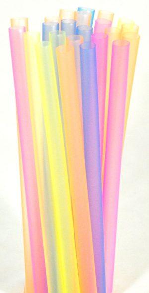 Трубочки кокт.1,0*20 см. 40шт. флюоресц. прямые цветные «MILK» FM /5/