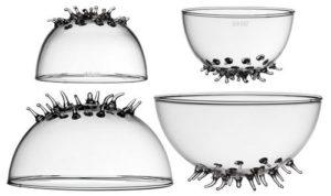 Клоше и салатник «Amuse», стекло, «Zieher», Германия