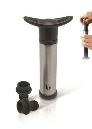 Пробка вакуумная для вина набор 2 шт.+ помпа VB /12/