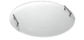 Поднос круглый с ручками/вставка «Milky» для боула XXL, стекло
