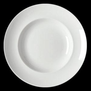 Тарелка круг. 19 см., плоск., фарфор