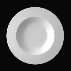 Тарелка круглая d=23 см., 36 cl. глубокая, фарфор