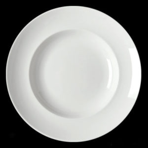 Тарелка круг. 24 см., глуб., фарфор
