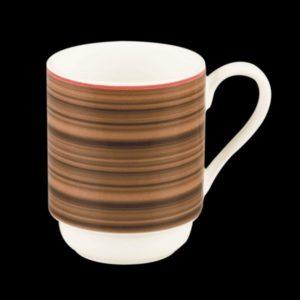 Кружка штабелируемая 30cl., цвет коричневый фарфор