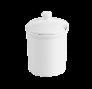 Соусник с крышкой 0.12л., фарфор