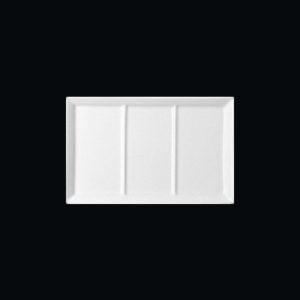Тарелка «Wasabi» 3-х секционная прямоуг. 19х12.5 см., плоск., фарфор