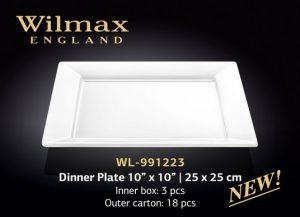 "Тарелка обеденная 10"" x 10"" | 25 x 25 см"