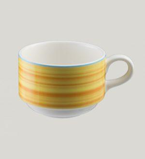 Чашка круглая,цвет желтый 23 cl., фарфор