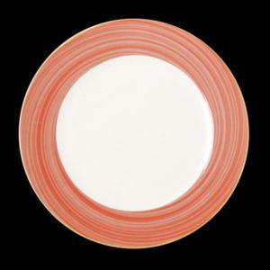 Тарелка круг. красно-корич. 24 см., плоск., фарфор