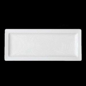 Тарелка прямоуг. 26×8 см., плоск., фарфор