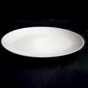 Тарелка овал. 21 см., плоск., фарфор