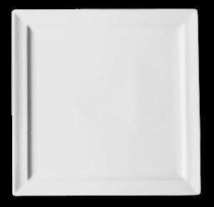 Тарелка квадрат. 24 см., плоск., фарфор
