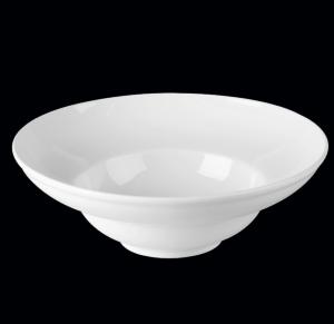 Тарелка круглая 23 см., глубокая, фарфор