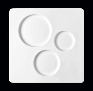 Тарелка «Chives» квадрат. 30х30 см., плоск., фарфор