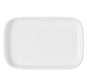 Тарелка прямоуг. 18х11.5 см., плоская, фарфор