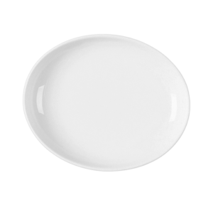 Тарелка овал. 19х15.5 см., плоск., фарфор