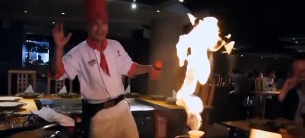 Кулинарное шоу в ресторане