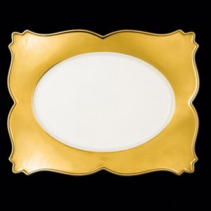 Тарелка прямоуг. 42 см., плоск., фарфор