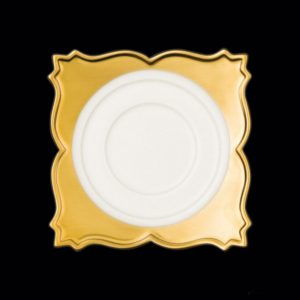 Блюдце квадрат. 12 см., для чашки 9cl, фарфор