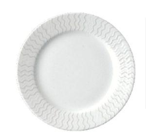 Тарелка круг. 13 см., плоск., фарфор